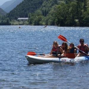Canoa al llac de la Torrassa