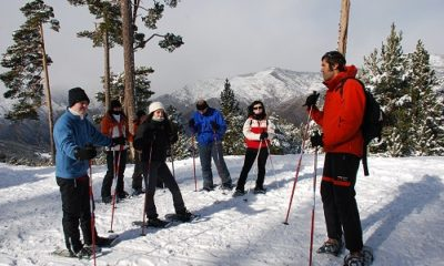 Raquetes de neu a 2.000 metres